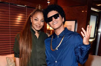 Janet Jackson et Bruno mars  duo en préparation pour le prochain album de Janet Jackson.