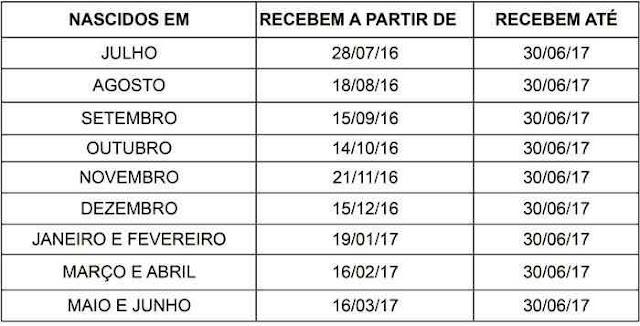 Calendário PIS 2016 ATUALIZADO
