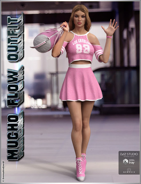 Mucho Flow Outfit and Accessories for Genesis 3 Female