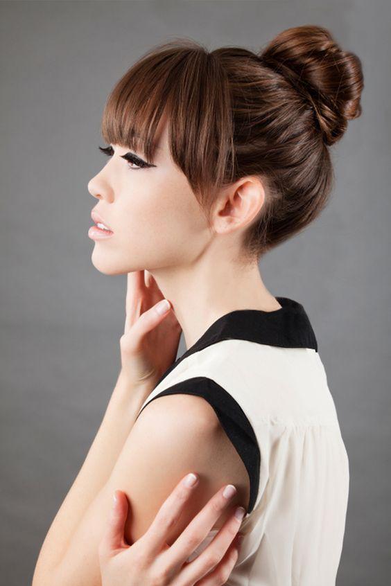 18 maneras de recoger el flequillo IsPop - Peinados Con Fleco Recogido