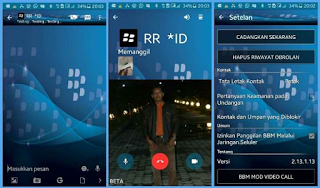 BBM Mod New BlackBerry Style 2.13.1.13 apk Video Call