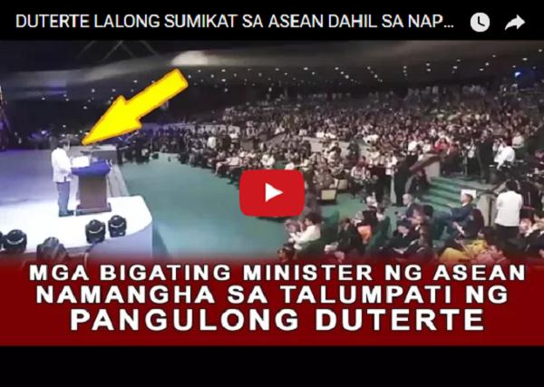 WATCH   DUTERTE LALONG SUMIKAT SA ASEAN DAHIL SA NAPAKAGANDA NIYANG MENSAHE!