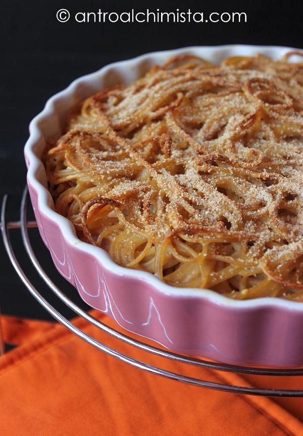 Frittata di Spaghetti Integrali al Forno