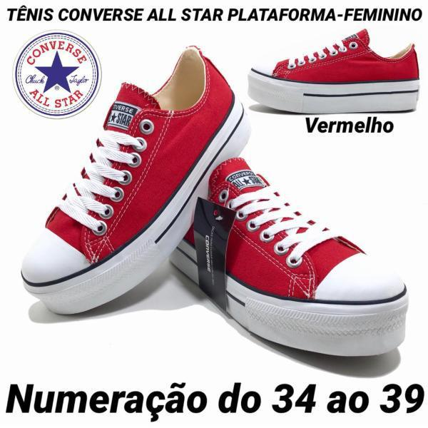 eed64dfe82 MT CALÇADOS  ALL STAR PLATAFORMA FEMININO