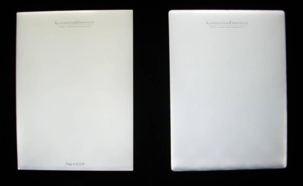 Kobo Glo i Cybook Frontlight - porównanie podświetlenia