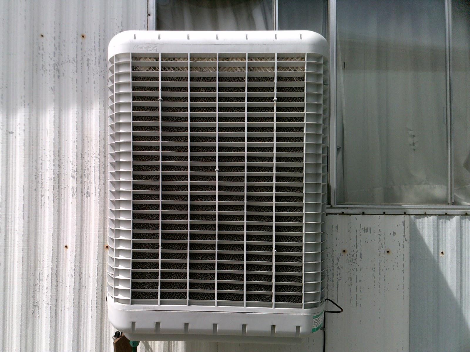 MasterCool window evaporative cooler.