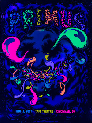 Primus Cincinnati Taft Theatre Poster black light