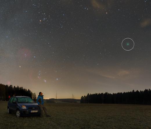 cometa verde wirtanen já está visível a olho nu