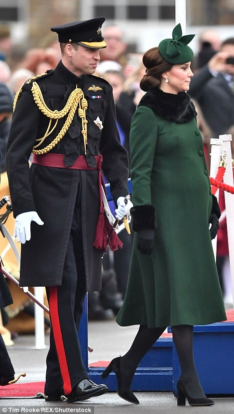 Kate and Prince William joined the Irish Guards parade in Hounslow to celebrate St Patrick's Day