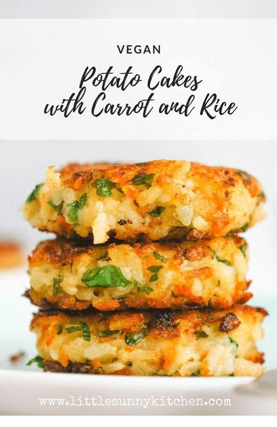 Vegan Potato Cakes with Rice