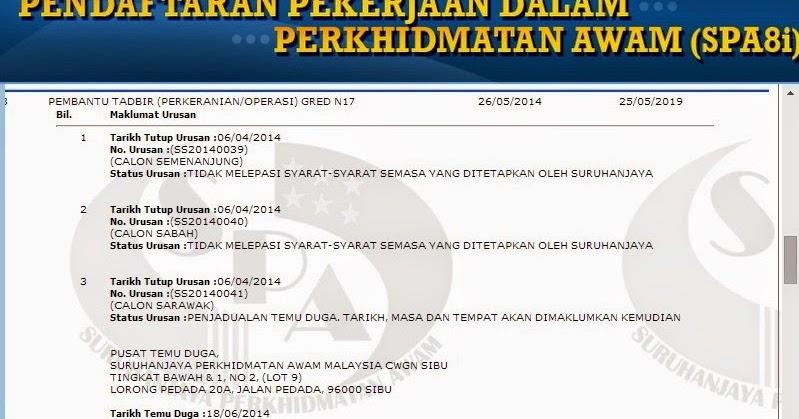 Contoh Soalan Temuduga Pembantu Operasi Gred N11 Karanganyar B