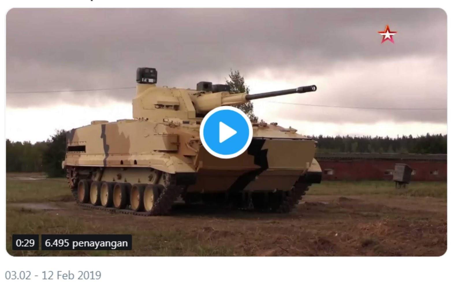 Rusia telah menguji senjata otomatis 57 mm terbaru