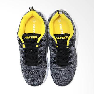 Faster 1546 Sepatu Sneakers Wanita - Grey