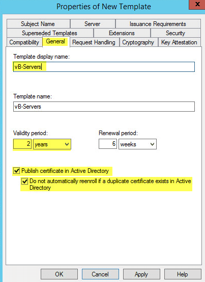 How to deploy active directory certificate services on windows on the security tab add domain computers as this will give permission to your domain computers check the boxes for read and autoenroll yelopaper Gallery