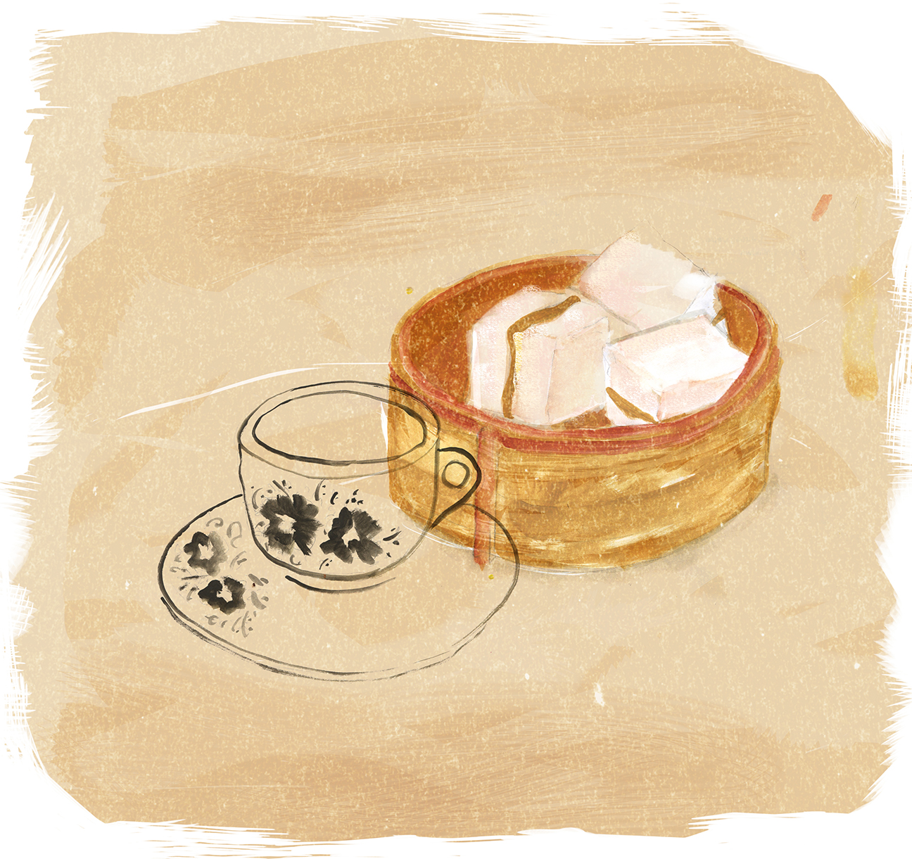 Steamed Challah with Kaya, Shabbat, JewAsian, Lauren Monaco Illustration
