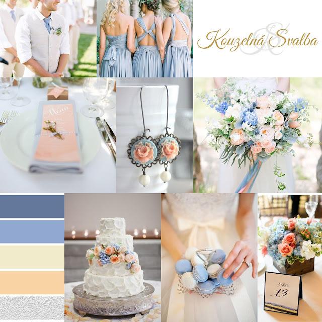 Serenity - pastelově modrá svatební výzdoba