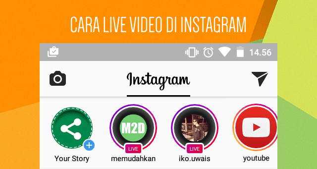 Cara LIVE di Instagram Android