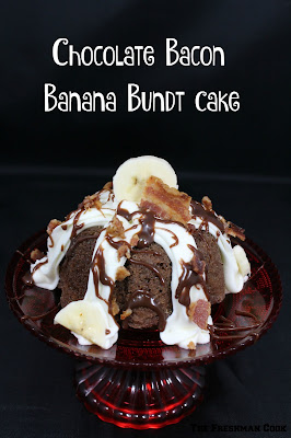 Chocolate, Bacon, Banana, Bundt, Cake