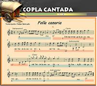 Copla cantada Folia canaria