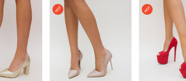 Pantofi roz eleganti cu toc inalt din glitter de ocazii