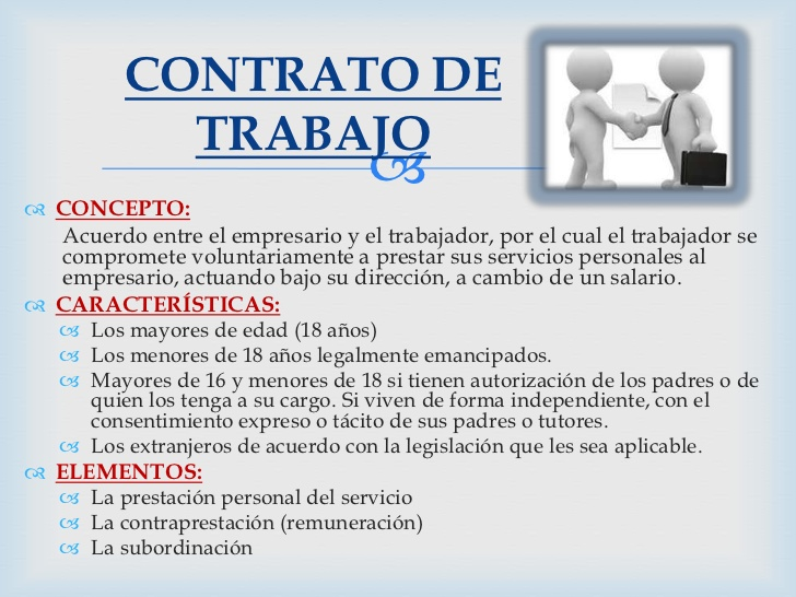 Derecho laboral e individual contrato laboral en colombia Contrato laboral de trabajo