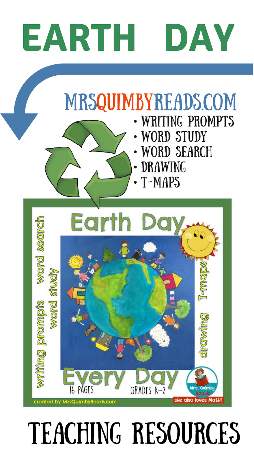 MrsQuimbyReads | Teaching Resources: 7 Earth Day Activities and ...