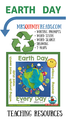 writing prompts about earth day, learn about the earth, take care of the earth, teaching resources