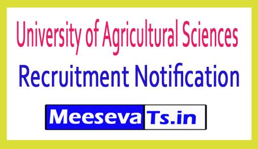 University of Agricultural Sciences UAS Recruitment