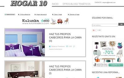 Hogar 10, blog de hogar y decoración