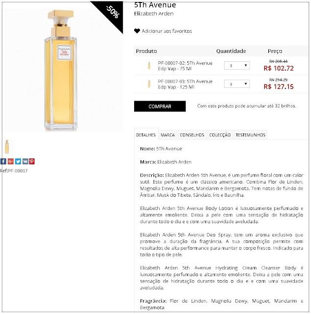 Perfume 5Th Avenue EDP - 50% de desconto + 5% cupom viagensebeleza