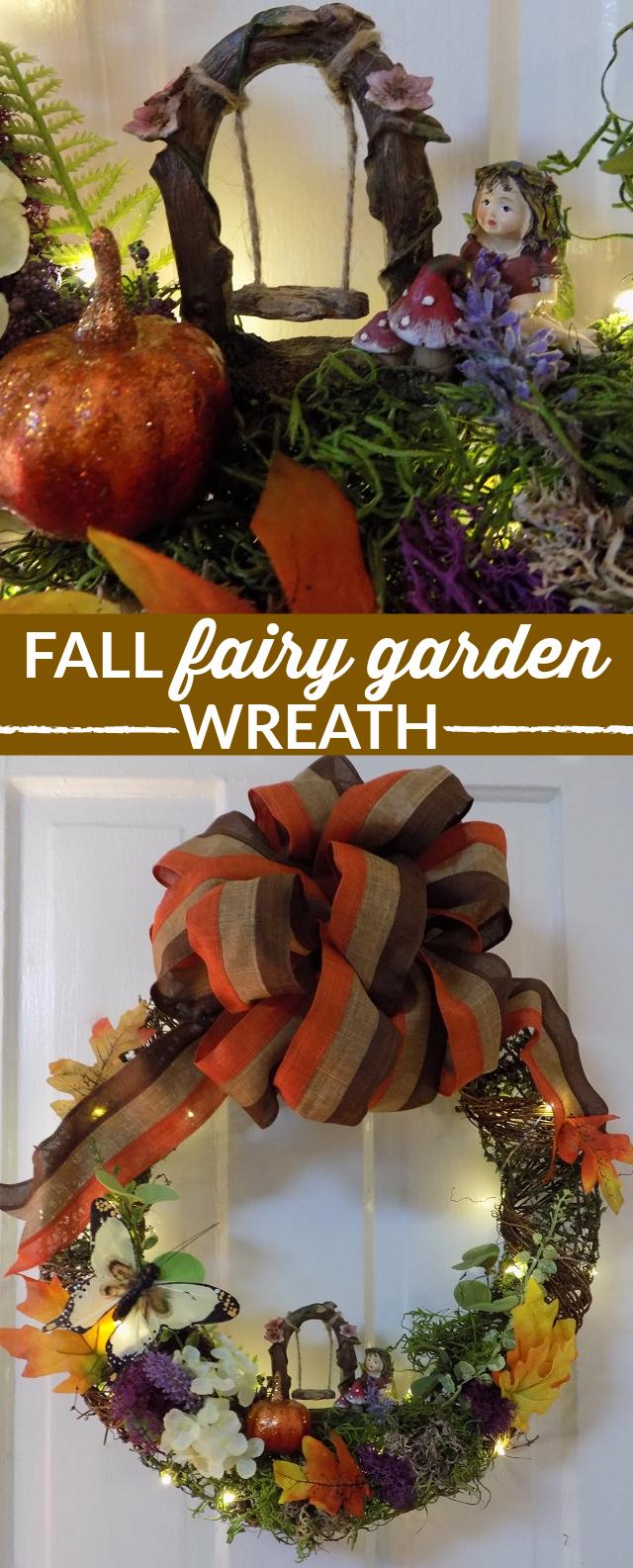 One Savvy Mom ™   NYC Area Mom Blog: Fall Fairy Garden Wreath How-To