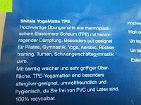 Information: Yogamatte »Shitala« / Umweltfreundliche und hypo-allergene TPE-Matte, weich und rutschfest, ideal für alle Yoga-Lehrer und Yogis / Maße: 183 x 61 x 0,5cm / In vielen Farben erhältlich.