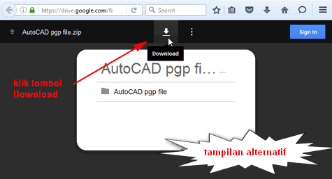 Cara Download File di Tutorial AutoCAD X | Tutorial Autocad X