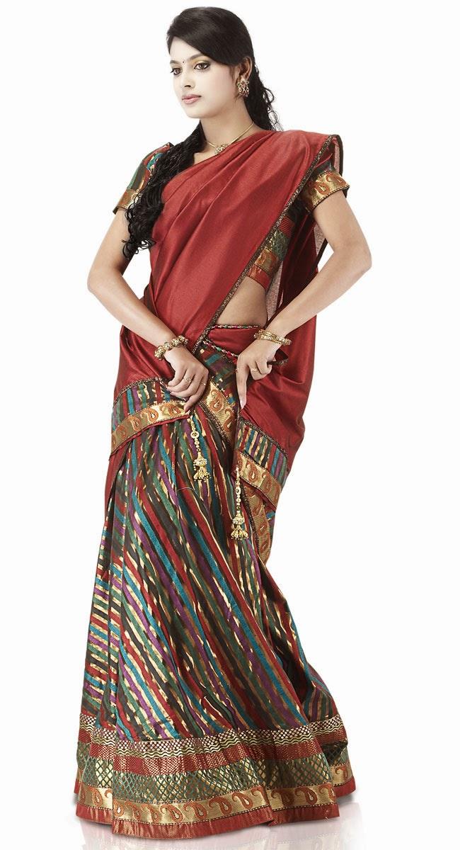 Woman's Clothing India Pattu Pavadai/Reshme Langa ...