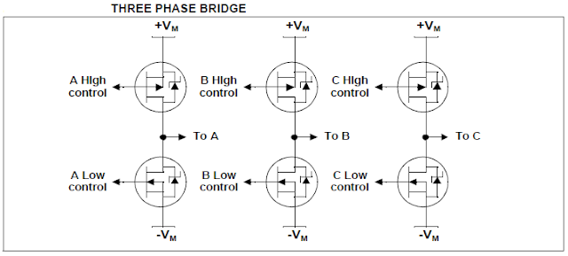 3 phase bridge for Brushless BLDC motor