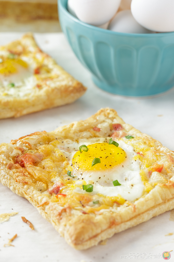 Egg and Ham Puffed Pastry Tart   Cooking on the Front Burner