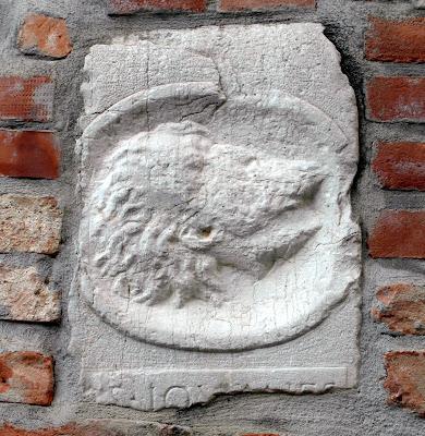 Stone relief, San Zan Degolà, Venice