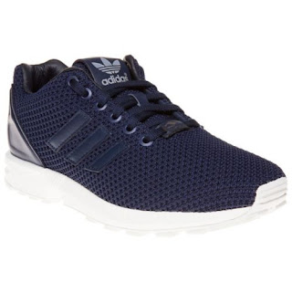 New Boys adidas Blue Zx Flux Textile Trainers Retro Lace Up