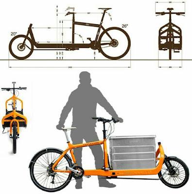 Bicicleta con espacio para llevar cajas