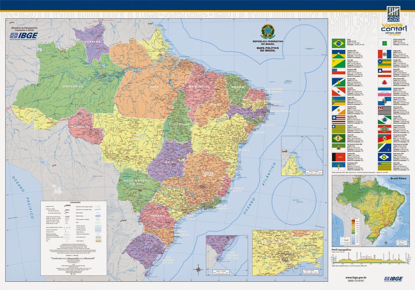 Brasil | Mapas Geográficos do Brasil
