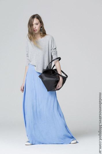 Moda mujer vestidos y faldas ropa primavera verano 2017.