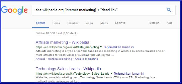 broken link wikipedia