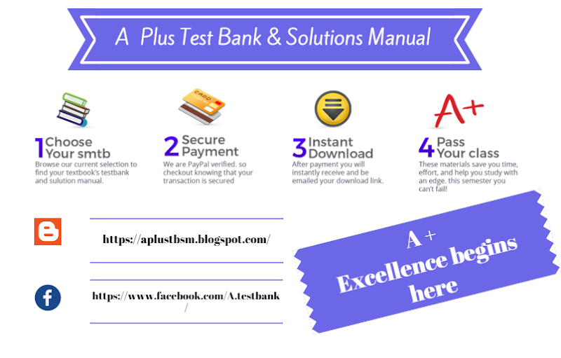 A plus test bank solutions manual google fandeluxe Images