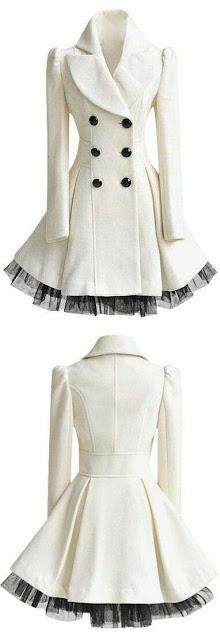 Long ruffle coat
