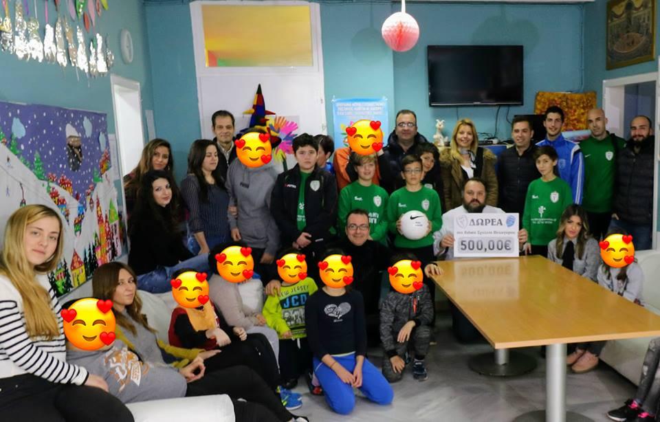 Η Νίκη Πολυγύρου και η Ελπίδα δίπλα στο Ειδικό Σχολείο Πολυγύρου!
