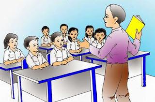 Ilustrasi pembelajaran di dalam kelas