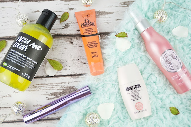 LUSH, LUSH UK, Yuzu and Cocoa, Dr PawPaw, Peach, Multipurpose Balm, No7, Lovely Lashes, Mascara, Soap and Glory, Hocus Focus, Strobing, Illuminator, Mist You Madly, Beauty, April 2016, Favourites