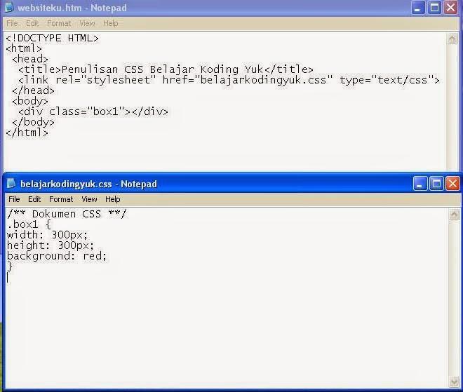 Cara membuat box dengan tag div belajar koding yuk - Div tag properties ...