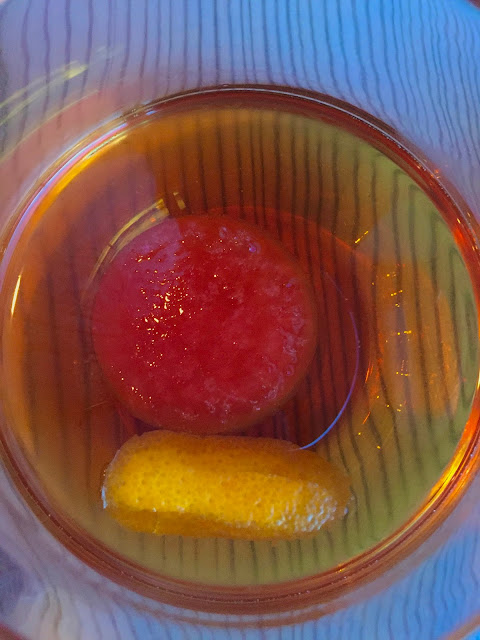 The Manhattan Curve with Campari ice at the Wine Kitchen in Frederick, MD