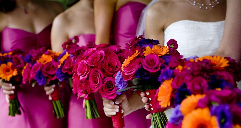 The Diamond Ring: Color Themes For Your Wedding